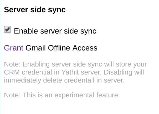 Server Side Sync